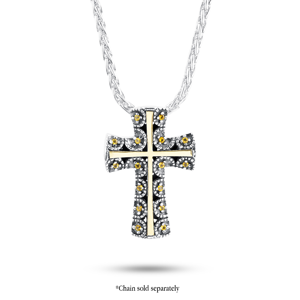 US Jewels And Gems Sterling Silver Dove /& Cross Heart Locket Pendant