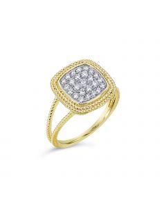 Madison L 14KYG Cushion Pave Diamond Ring