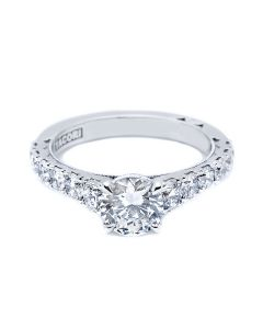 Tacori 18KWG Cresent Collection 1.05ct Semi Mount with CZ Center