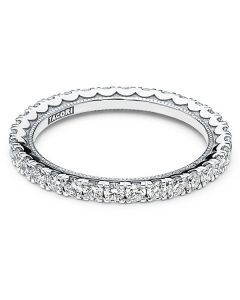 Tacori 18KWG Cresent Collection Eternity Sculpted Wedding Band