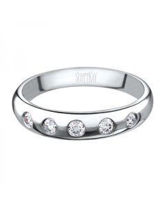 Scott Kay Platinum Five Diamond 0.18ct Wedding Band