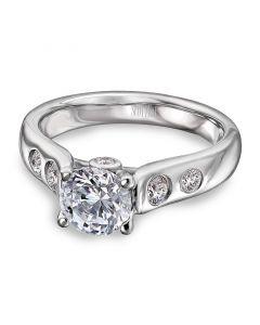 Scott Kay Platinum Contemporary Collection Diamond Semi Mount (0.27ct)