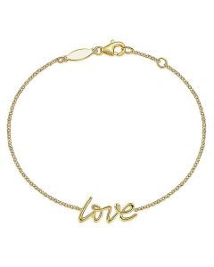 """Gabriel & Co 14K Yellow Gold """"Love"""" Chain Bracelet"""