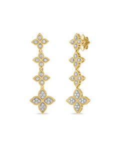 Roberto Coin 18KTT Princess Flower Drop Earrings
