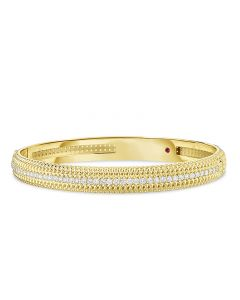 Roberto Coin 18K Yellow Gold Opera Diamond Bangle Bracelet