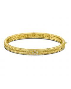 Judith Ripka 18KYG Berge Collection Diamond Set Bangle Bracelet