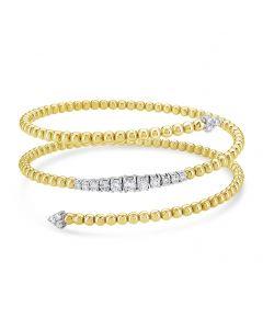 Windsor Collection 18KTT 3 Row Diamond Coil Bracelet