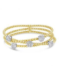 Windsor Collection 18KTT 3 Row Crossover Diamond Bracelet