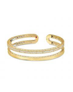 Roberto Coin 18KYG Symphony Princess Cuff Bracelet