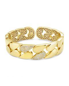 Windsor Collection 18KYG 2 Row Teardrop Diamond Bracelet