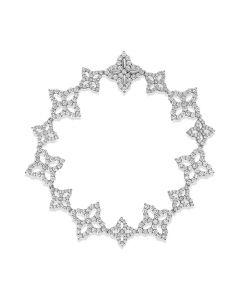 Roberto Coin 18KWG Princess Flower Diamond Link Bracelet