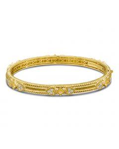 Judith Ripka 18KYG Berge Collection Canary Crystal Romance Bangle Bracelet