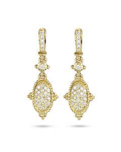 Judith Ripka 18KYG Small Oval Diamond Arielle Earrings