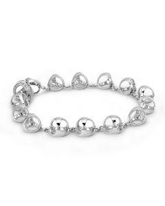 Di Modolo 18K White Gold Triadra Diamond Link Bracelet