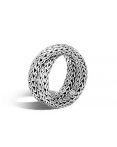 John Hardy Sterling Silver Classic Chain Intersect Chain Ring