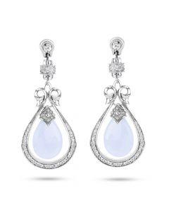 Scott Kay Sterling Silver Blue Chalcedony Drop Earrings