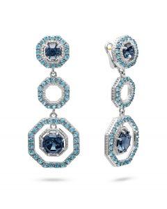 Judith Ripka Casablanca Octagon Drop Earrings
