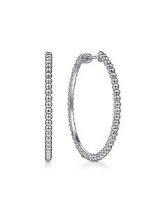 Gabriel & Co Sterling Silver 40MM Bujukan Hoop Earrings