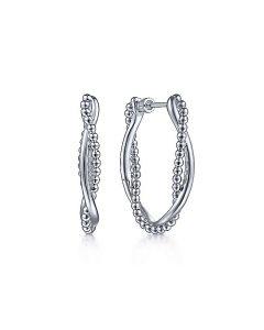 Gabriel & Co Sterling Silver 30MM Bujukan Twist Hoop Earrings