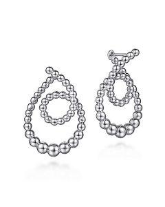 Gabriel & Co Sterling Silver Bujukan Spiral Drop Earrings