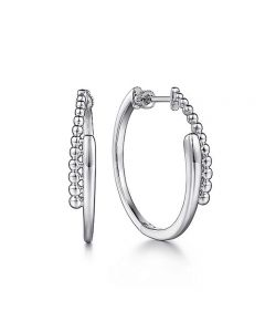 Gabriel & Co Sterling Silver 30MM Bujukan Bypass Hoop Earrings