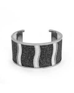 Rebecca Sterling Silver Plated Bronze Cuff Bracelet with Glam Film