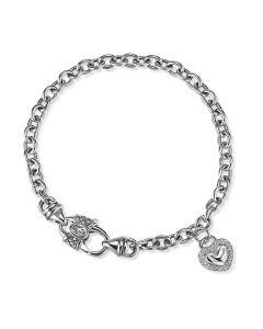 Scott Kay Sterling Silver Diamond Heart Charm Bracelet
