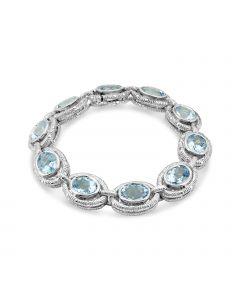 Charles Krypell Sterling Silver Blue Topaz Bracelet