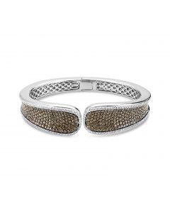 Charles Krypell Sterling Silver Brown Diamond Cuff