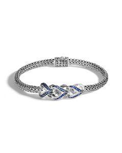 John Hardy Sterling Silver Asli Classic Chain Sapphire Bracelet