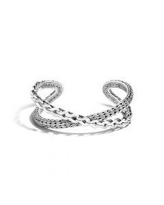 John Hardy Sterling Silver Asli Classic Chain Link Crossover Cuff Bracelet