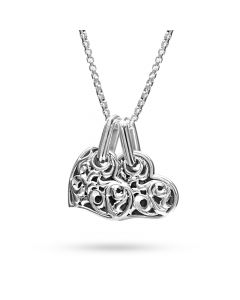 """Charles Krypell Sterling Silver """"Two Hearts Beat as One"""" Small Twin Heart Pendant"""