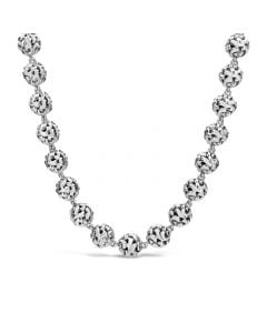 Charles Krypell Sterling Silver Ivy Ball Link Necklace