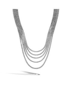 John Hardy Sterling Silver Classic Chain Multi-Row Necklace
