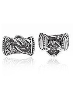 Scott Kay Sterling Silver Men's Sparta Engraved Cufflinks
