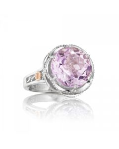 Tacori 18k925 Lilac Blossoms Collection Round Rose Amethyst Ring