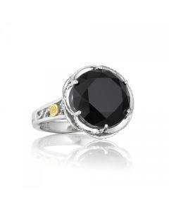 Tacori 18k925 Classic Rock Collection Round Black Onyx Ring
