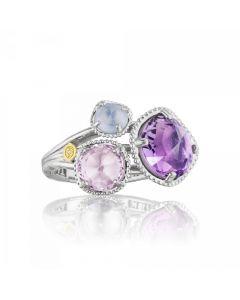 "Tacori 18k925 ""Lilac Blossom"" Cluster Ring"