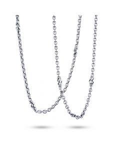 "Scott Kay Sterling Silver Basket-Weave Chain Necklace 34"""