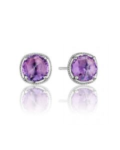 """Tacori 18k925 """"Lilac Blossoms"""" Collection Amethyst Stud Earrings"""