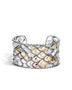 John Hardy Ster/18KYG Legends Naga Wide Cuff Bracelet