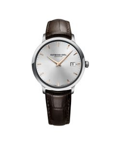 Raymond Weil Gents Geneve Toccata 39mm Brown Leather Strap Timepiece