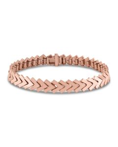 Kaspar & Esh 14K Rose Gold Plain Chevron Link Bracelet