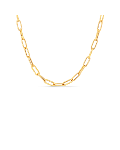"""Roberto Coin 18K Yellow Gold Paper Clip Chain Necklace 22"""""""