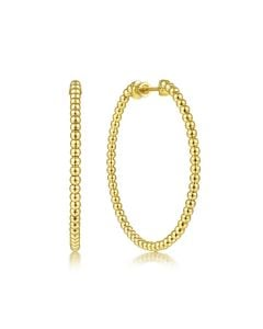 Gabriel & Co 14K Yellow Gold 40mm Bujukan Hoop Earrings