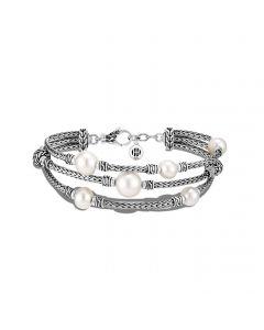 John Hardy Sterling Silver Classic Chain Freshwater Pearl Bracelet
