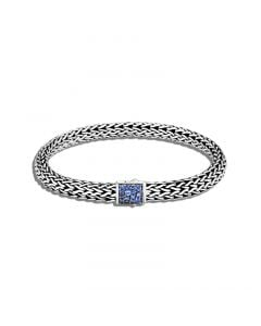 John Hardy Sterling Reversible Classic Chain and Blue Sapphire Bracelet