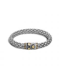 John Hardy Legends Naga Sterling/18KYG Scale Bracelet
