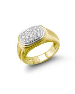 Carrera y Carrera 18 Karat Gold Diamond Pave Ring
