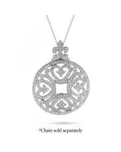 Chad Allison 18KWG Circle Medallion Diamond Pendant